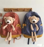 Japanese Students  Cartoon Bear Schoolbag In Harajuku