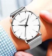 Stainless Steel Mesh Band Business Quartz Watch