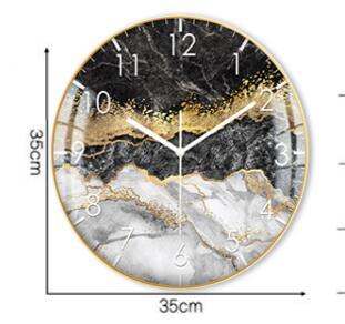 European Style Decorative Pattern Wall Clock 3