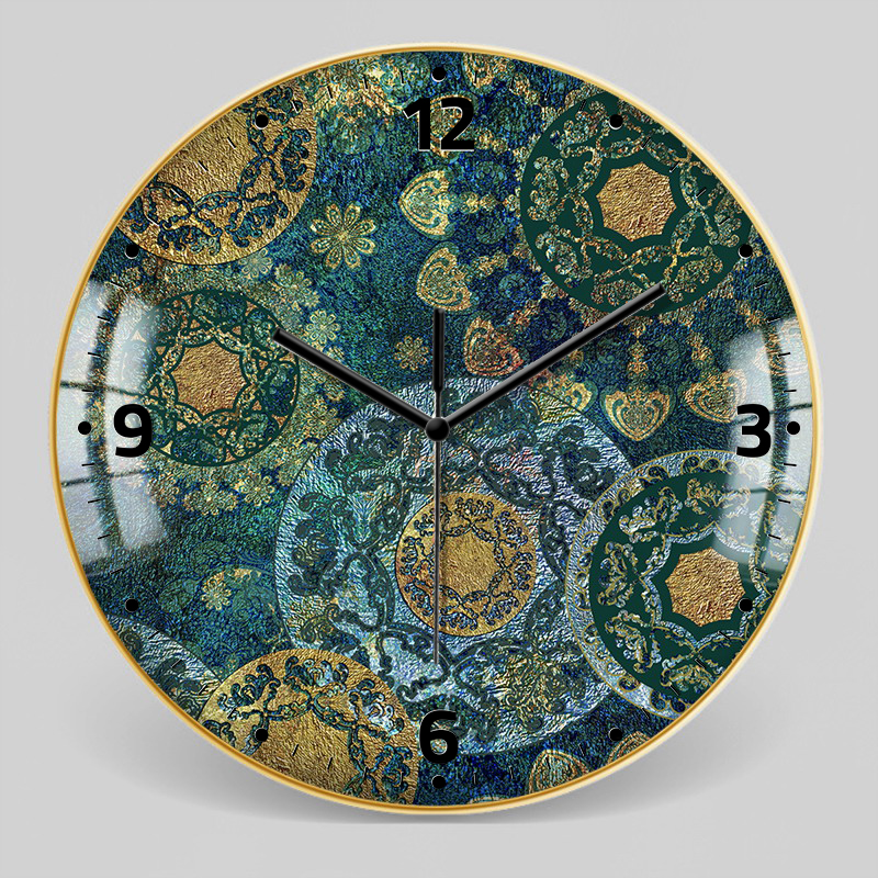 European Style Decorative Pattern Wall Clock 7