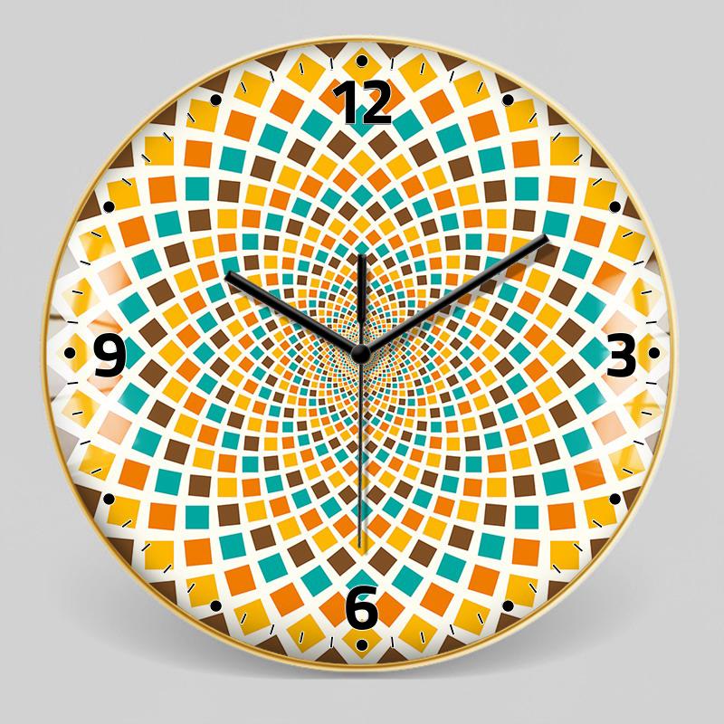 European Style Decorative Pattern Wall Clock 5