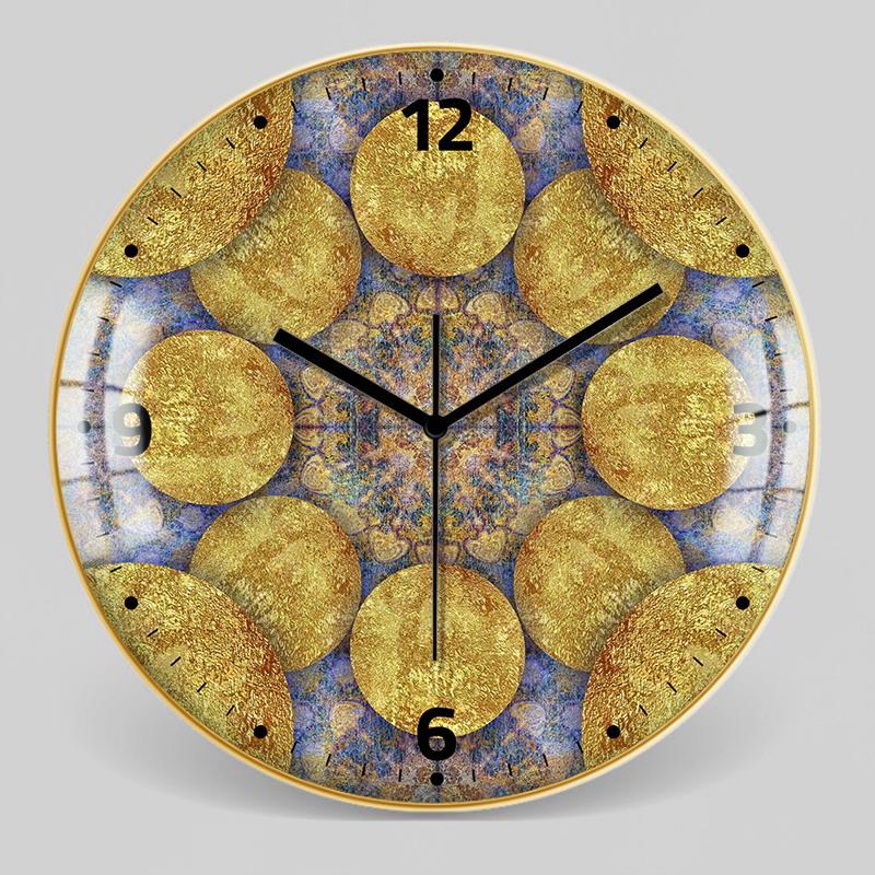 European Style Decorative Pattern Wall Clock 9
