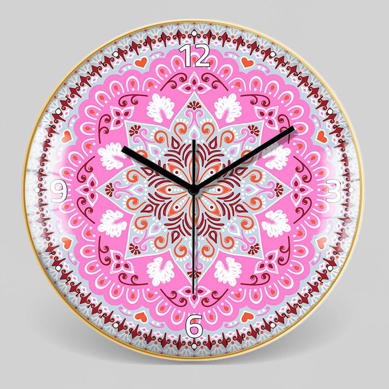 European Style Decorative Pattern Wall Clock 13