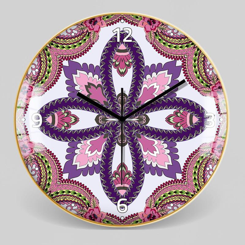 European Style Decorative Pattern Wall Clock 8