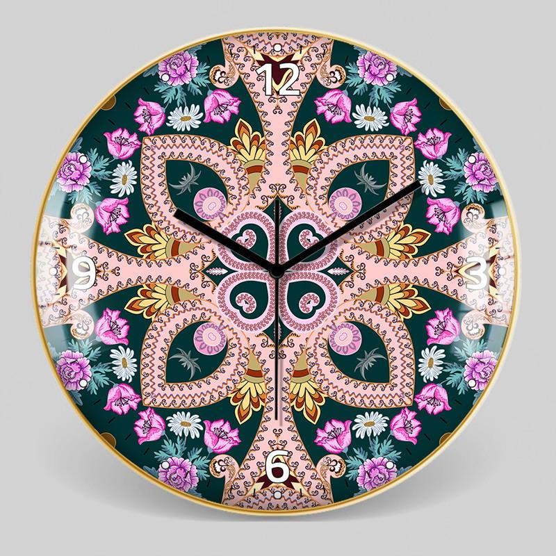 European Style Decorative Pattern Wall Clock 15