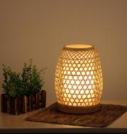 Table Lamp Bedroom Bedside Night Light Simple Handmade Bamboo Lamp