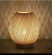 Bamboo Strip Weaving Simple Net Celebrity Homestay Decorative Table Lamp