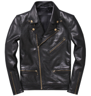 Lightweight Leather Leather Sheepskin Motorcycle Jacket Single Coat
