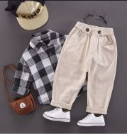 Western Style Baby Korean Daddy Pants