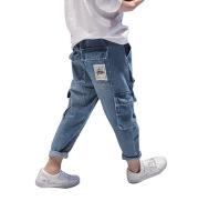 Big Kids Loose Harem Trousers Big Kids Plus Fleece Padded Overalls