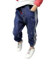 Boy's Loose Color Matching Jeans Spring And Autumn Cotton Children's Pants