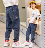 Daddy Children's Jeans Loose Trousers Winter