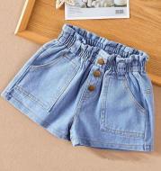 Girls' Shorts, Summer, Children's Denim Shorts, Girls' Outer Pants, Casual All-match Hot Pants