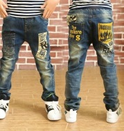 Boys Denim Trousers Spring And Autumn New
