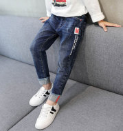 Kids Boys Jeans Baby Clothes Classic Pants Children Denim Clothing Boy Casual Bowboy Long Trousers  5-13Y