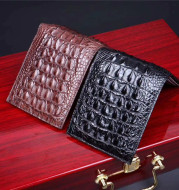 Leather Short Large Banknotes Multi-card Position Leather Clutch Small Wallet Bag