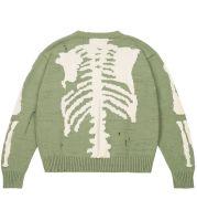 Loose Skull Jacquard Knit Pullover Long Sleeve Sweater