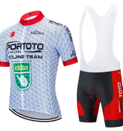 Short-Sleeved Bib Cycling Jersey Suit