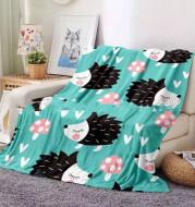 Flannel Blanket Hedgehog Coral Fleece Blanket