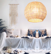 Bamboo Art Lamp Creative Art Rattan Chandelier