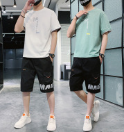 Summer New Men''s Hip-hop, Korean Style Short Sleeve T-shirt, Loose And Casual, With Sportswear