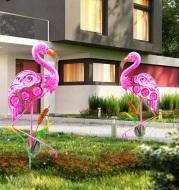 Solar Flamingo Stake Light Solar Powered Pathway Lights Outdoor Waterproof Garden Decorative Lawn Yard Art Garden Decoration
