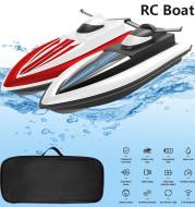 RC Boat Toy High Speed Racing Boat Waterproof 2.4G Electric Radio Dual Motor Sensitive Steering Remote Control Speedboat Gifts