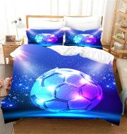 Sports Football Series Three-piece Bed