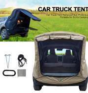 Car Trunk Extension Tent At The Rear Of The Car