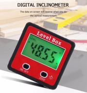 Red Precision Digital 2-key Inclinometer Level Box Mini Protractor Angle Finder Gauge Meter Bevel Box With Magnet Base