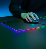 Razer Firefly Hard V2 RGB Gaming Mouse Pad Customizable Chroma Lighting  Built-in Cable Management  Non-Slip Rubber Base
