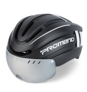 Helmet Integrated Molding With LED Warning Light Adjustable Mountain Riding Equipment