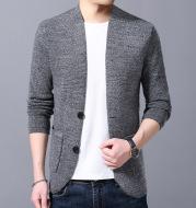 Men's Stand Collar Sweater Pocket Jacket Men's Autumn Knitted Cardigan