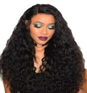 Wig Wine Red Corn Whisker Wig Black Small Curls