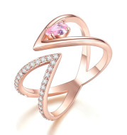European And American Fashion Cool V-shaped Ring