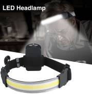 COB LED Headlamp Built-in Battery Rechargeable Headlight Head Waterproof Lamp White Red Lighting For Camping Working