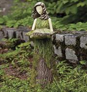 Sherwood Fern Fairy Statuary Sherwood Fern Fairy Statuary Resin Bird Feeder