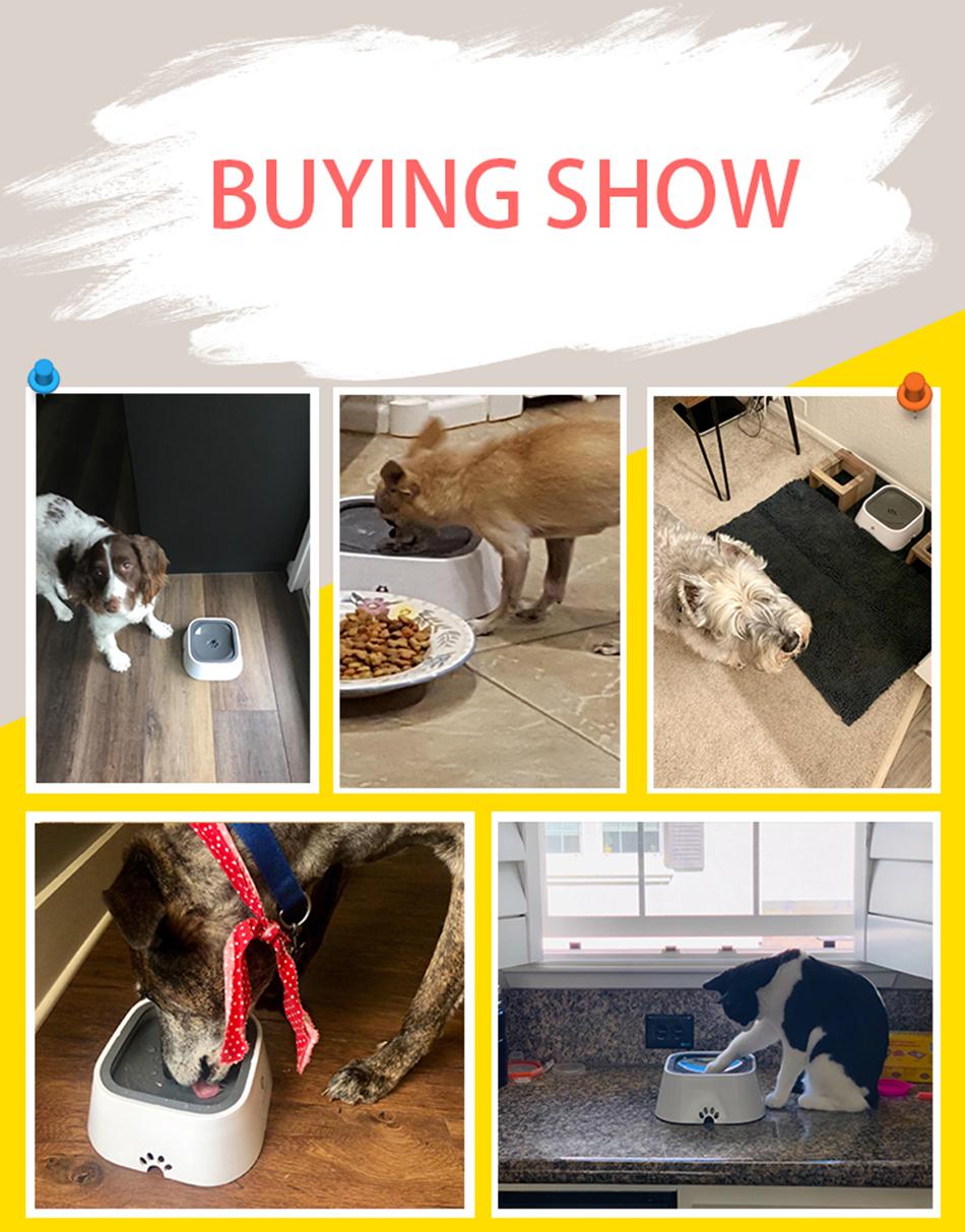 Dog Water Bowl Machine   Slow Water Feeder Dispenser Anti-Overflow