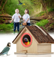 Bird House Bird Nest Outdoor Tree Parrot Breeding Box