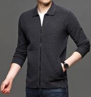 Knit Sweater Men's Cardigan Lapel Autumn New Loose Men's Jacket Business Casual Solid Color Men's Sweater Jacket