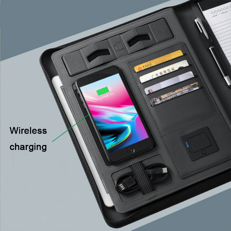 Business Document Holder With Power Bank 2