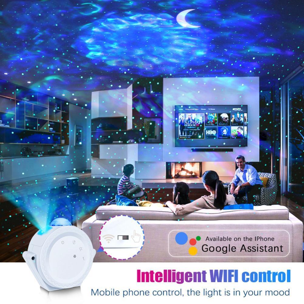 LED Starry Sky Projector Light Moon Star Cloud Bluetooth Night