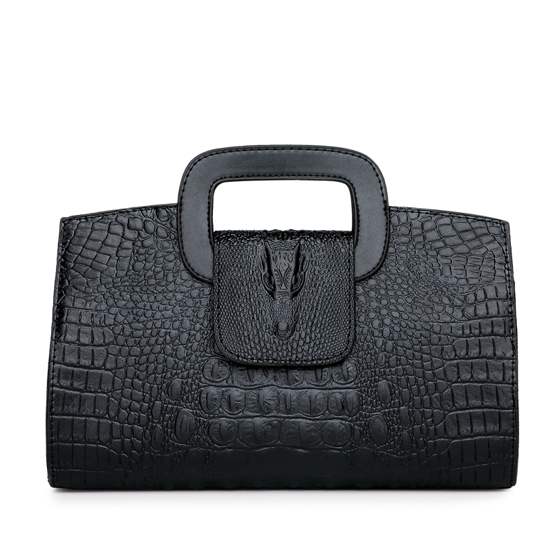 Crocodile Faux Leather Handbag 5