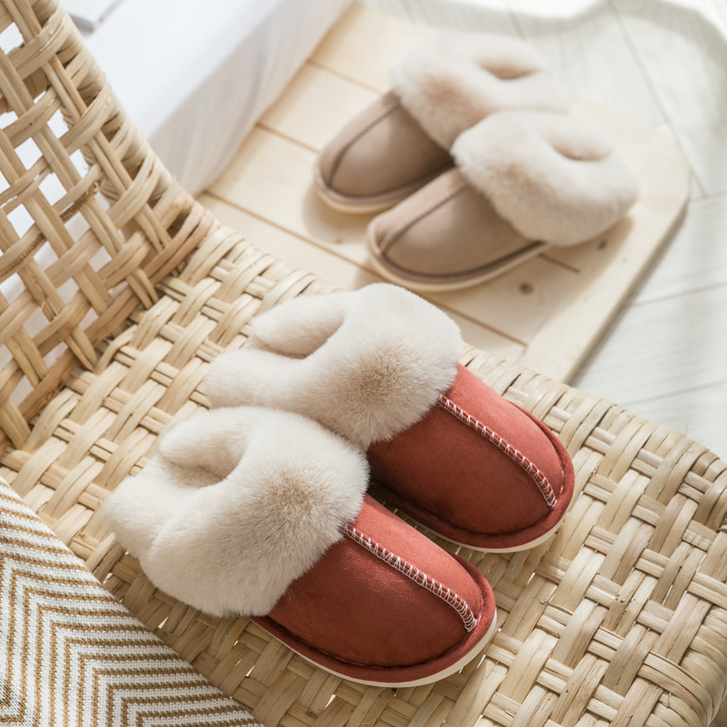 awesome Suede Cotton Slippers