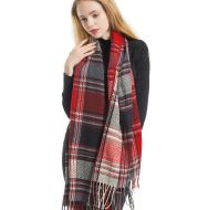 Plaid Scarfs for Women Pashmina Shawls and Wraps Long Warm Soft Winter Scarf