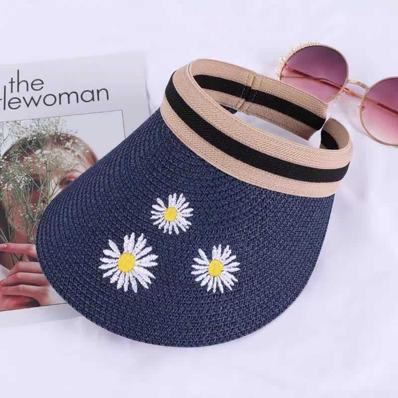 Chapeau de paille chrysanthème 5