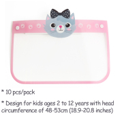10 PCS KIDS Face Shield with Protective Clear Film Protect Eyes and Face Elastic Band Reusable Full Face for Child