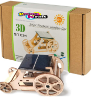 Perfect Kraft Wooden DIY Solar Car Model Kits