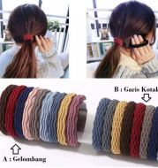 IK05 Ikat Rambut Korea Karet Multi Color 5 pcs