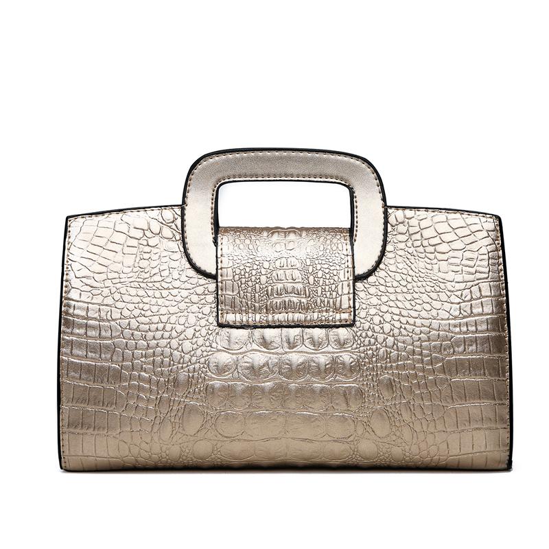 Crocodile Faux Leather Handbag 8